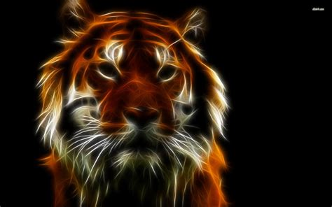 Digital Tiger Wallpaper by Neon Tiger Wallpaper 65 Images