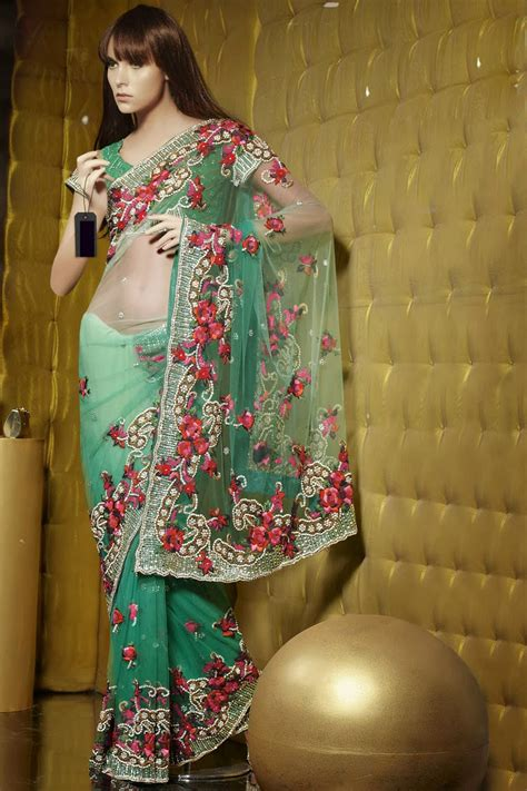 embroidery sarees  shopping stylish indian actress