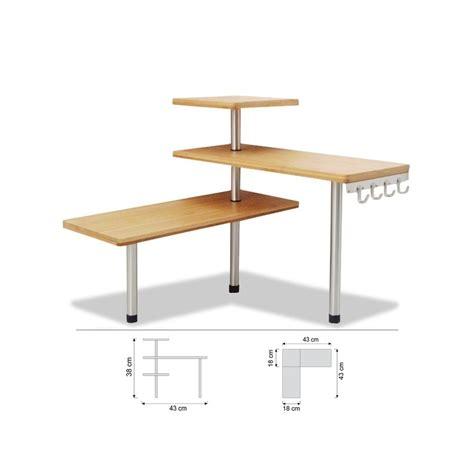 etagere d angle cuisine etagère d 39 angle en bambou avec crochets petit meuble de