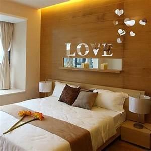 Decoration Murale Miroir : acrylique miroir d coration murale amour coeur d coration ~ Teatrodelosmanantiales.com Idées de Décoration