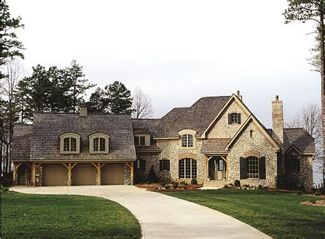 sq ft french country manor plan    bedrm home
