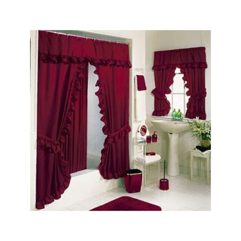 tiara deluxe double swag shower curtain curtain draperycom