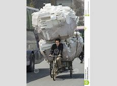 Heavy Load On Bike In China Editorial Image Image of