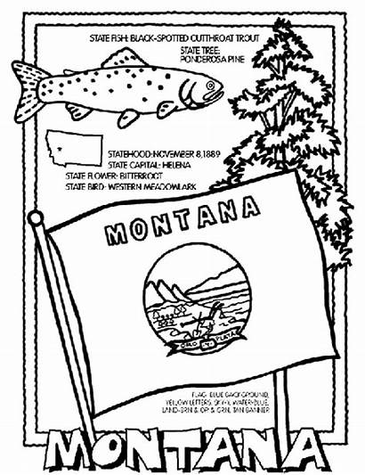 Coloring Pages Montana Crayola State Flag Delaware