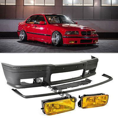 for 92 98 bmw e36 3 series m3 style front bumper moldings yellow fog lights 1 179 97 picclick
