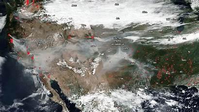 September Satellite Fires Smoke Nasa Noaa America