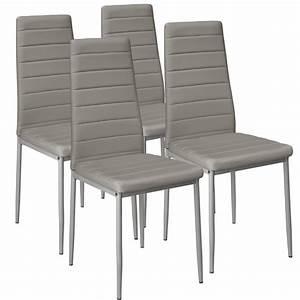 4x chaise de salle a manger ensemble salon design chaises With salle À manger contemporaineavec chaise cuisine grise