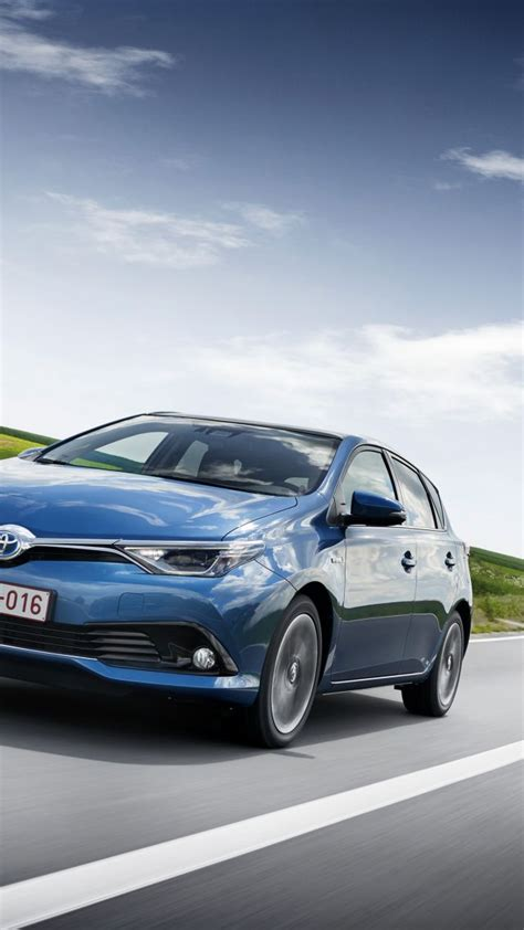 wallpaper toyota auris hatchback hybrid blue cars
