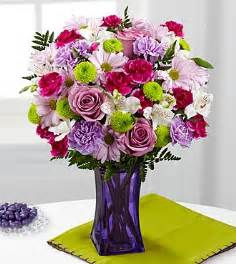 peruvian lilies the ftd purple pop bouquet vase included