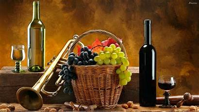 Wine Bottle Wallpapers Grapes Glass Energy Cave