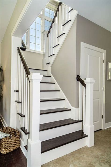 switchback stairs   model home  bridgewater estates
