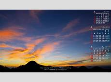 7月の前月表示の3ヶ月ワイド壁紙カレンダー1920x1080:朝焼け 無料ワイド高画質壁紙館