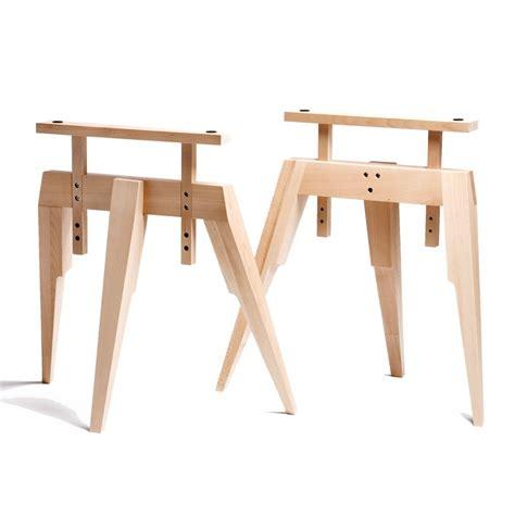 treteaux pour bureau tréteau bois tréteaux design pied compas en bois naturel scp