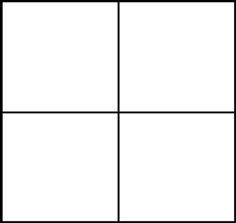 Four Panel Comic Template by Image Spritecomicfourpaneltemplate Png Sonic News