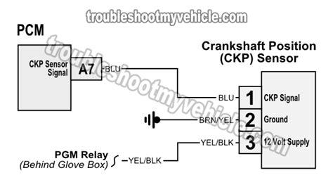 Crankshaft Sensor Wire Diagram For 2001 Honda Civic Dx crank sensor wiring diagram 2001 2005 1 7l honda civic