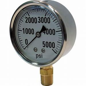 Valley Instrument Hydraulic Pressure Gauge  U2014 Liquid Filled