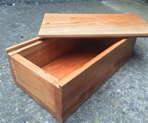 wooden box includes sliding dove tails