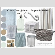 A Coastal Color Palette For Your Bathroom  Decorating By