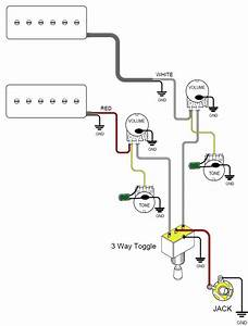 Guitar Pick Up Wiring Schematics : here is a common wiring diagram for a 2 pup configuration ~ A.2002-acura-tl-radio.info Haus und Dekorationen
