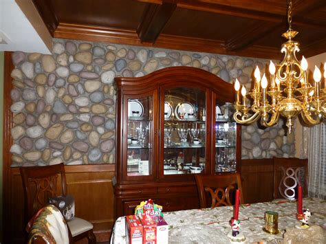 Dining Room Makeover With River Rock Creative Faux Panels