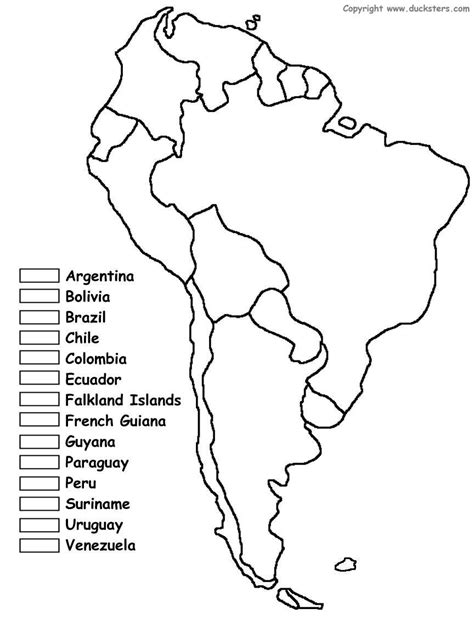 south america coloring map  countries cc cycle