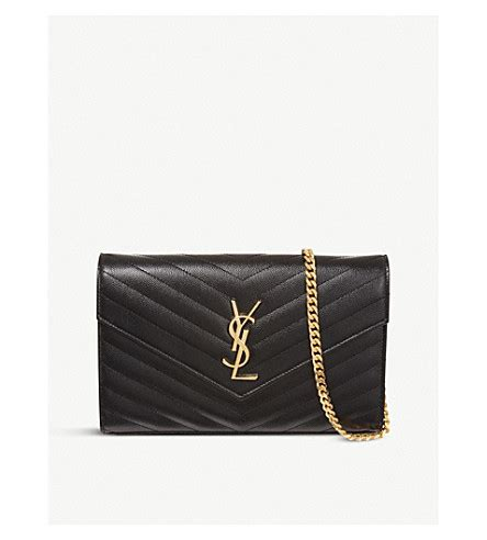 saint laurent monogram quilted leather shoulder bag