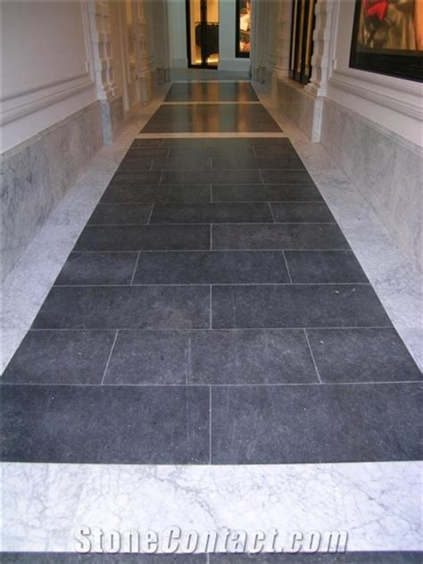 belgian blue bianco carrara marble flooring from