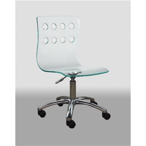 acrylic desk chair wayfair