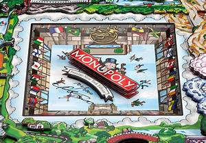 American Pop Artist Charles Fazzino Gives The Classic Monopoly Board Game An Nyc