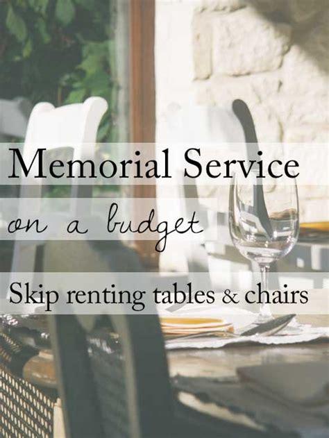 ideas   beautiful memorial service   budget