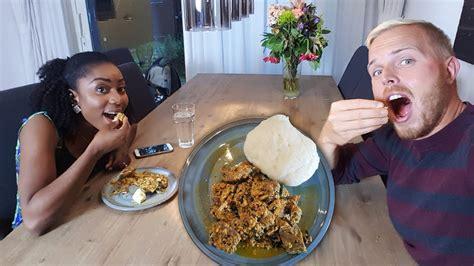 jack eats fufu egusi soup nigerian food tasting youtube