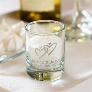personalized wedding votive candle holders With customized candles wedding favors