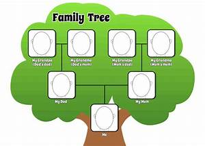 printable pdf family tree page to complement by With draw a family tree template