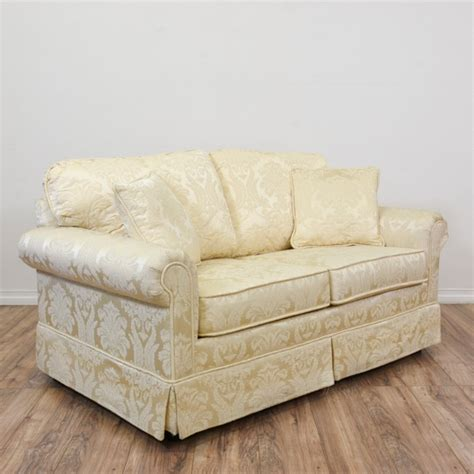 krauses cream floral damask loveseat sofa loveseat