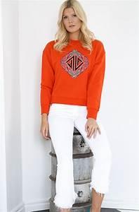 Lala Berlin Hoodie : lala berlin talo sweatshirt fire red plain vanilla ab ~ Jslefanu.com Haus und Dekorationen
