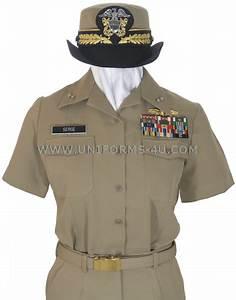 US NAVY FEMALE OFFICER SUMMER KHAKI UNIFORM