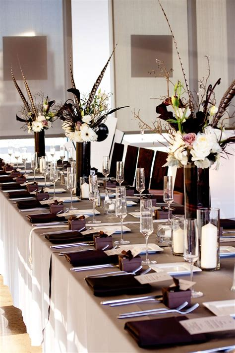 black white table centerpieces 31 best images about table settings on pinterest wheat grass tables and modern table