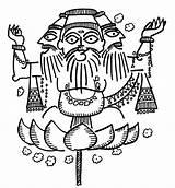 Brahma Devdutt sketch template