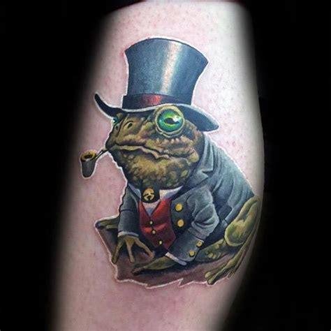 toad tattoo designs  men amphibian ink ideas
