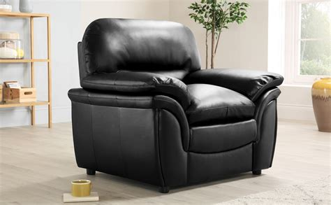Rochester Black Leather Armchair Only £299.99