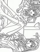 Coloring Anime Pages Princess Printable Fairy Print Coloringcolor Comments Ages Library Clipart sketch template