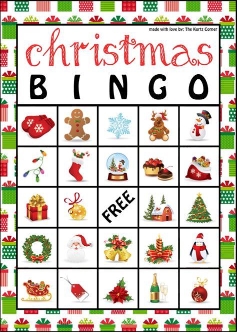 the kurtz corner free printable christmas bingo cards