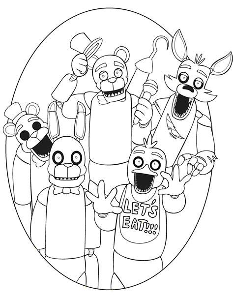 Five Nights At Freddys Kleurplaat Foxy by Foxy Five Nights At Freddys Coloring Pages Thekindproject