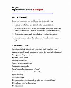 Nzymes  Experiment Instructions  Lab Report  Learn