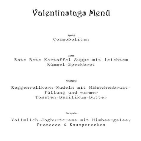 gaenge valentinstag menue liebesrezepte
