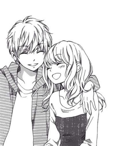 anime anime couple cute happy laughing smiling sweet