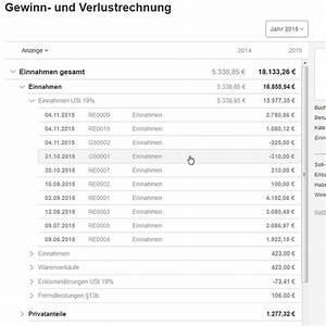 Gewinn Und Verlust Rechnung : gewinn verlustrechnung guv erstellen mit lexoffice ~ Themetempest.com Abrechnung