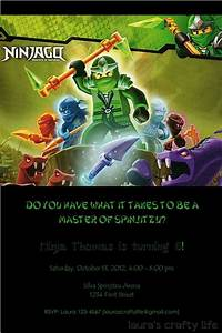 Ninjago Party Invitation - Laura's Crafty Life