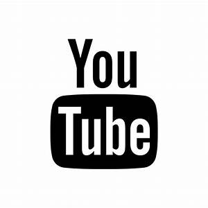 Black, youtube icon