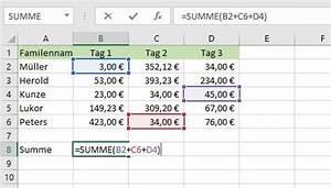 Excel Uhrzeiten Berechnen : summe in excel berechnen so geht s giga ~ Themetempest.com Abrechnung